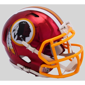 Washington Redskins CHROME Riddell Speed Mini Football Helmet