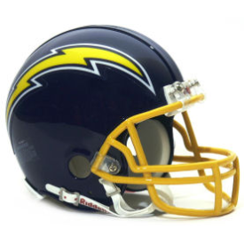 San Diego Chargers Riddell VSR-4 Throwback 74-87 Mini Football Helmet