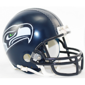Seattle Seahawks Riddell VSR-4 Mini Football Helmet