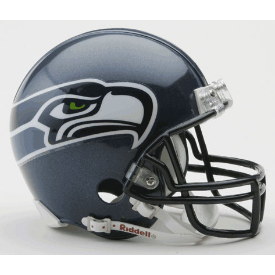 Seattle Seahawks Riddell VSR-4 Throwback 02-11 Mini Football Helmet