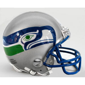 Seattle Seahawks Throwback 83-01 Riddell VSR-4 Mini Football Helmet