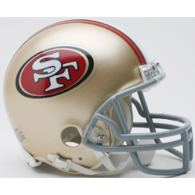 San Francisco 49ers Riddell VSR-4 Mini Football Helmet