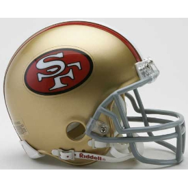 San Francisco 49ers Riddell VSR-4 Throwback 64-95 Mini Football Helmet