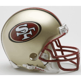San Francisco 49ers Riddell VSR-4 Throwback 96-08 Mini Football Helmet
