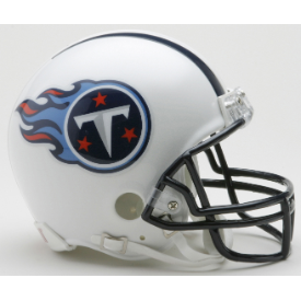 Tennessee Titans Throwback 99-17 Riddell VSR-4 Mini Football Helmet