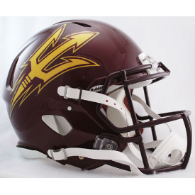 Arizona State Sun Devils Maroon Riddell Speed Authentic Full Size Football Helmet