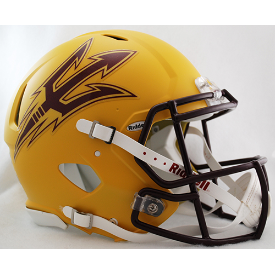 Arizona State Sun Devils Gold Riddell Speed Full Size Authentic Football Helmet