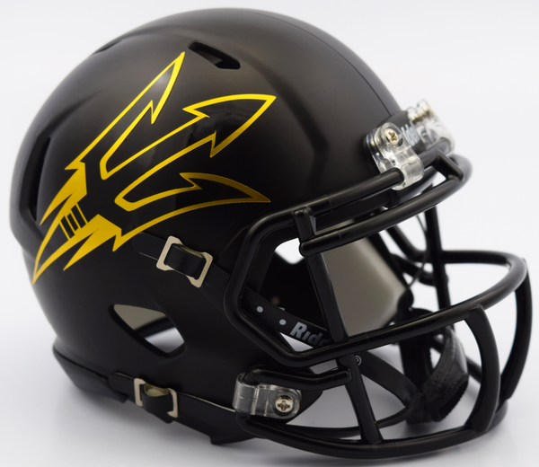 383d8423cf2 Sold Out Arizona State Sun Devils Black Riddell Speed Authentic Full Size  Football Helmet ...