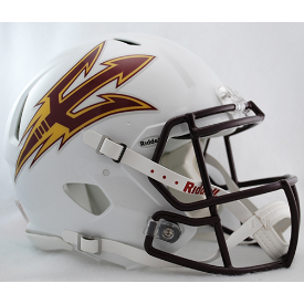Arizona State Sun Devils White Riddell Speed Authentic Full Size Football Helmet