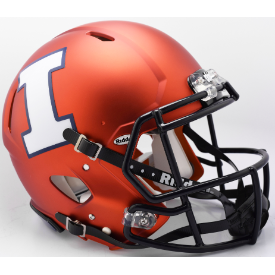 Illinois Fighting Illini Orange Pearl Riddell Speed Authentic Full Size Football Helmet