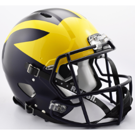 Michigan Wolverines Painted Wings Riddell Speed Authentic Full Size Football Helmet