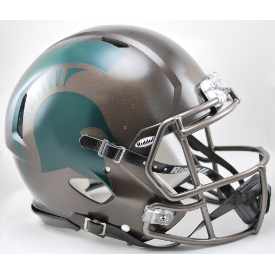 Michigan State Spartans Bronze Riddell Speed Authentic Full Size Football Helmet