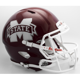 Mississippi State Bulldogs M State Riddell Speed Authentic Full Size Football Helmet