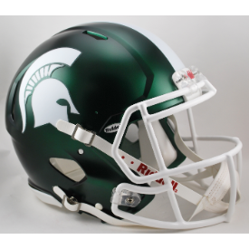 Michigan State Spartans Satin Green Riddell Speed Authentic Full Size Football Helmet