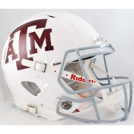 Texas A&M Aggies White Riddell Speed Authentic Full Size Football Helmet