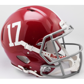 Alabama Crimson Tide #17 Riddell Speed Authentic Full Size Football Helmet