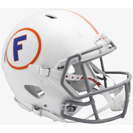Florida Gators White w/Gray Mask Riddell Speed Authentic Full Size Football Helmet