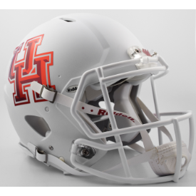 Houston Cougars Matte White Riddell Speed Authentic Full Size Football Helmet