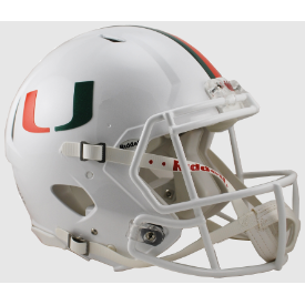 Miami Hurricanes Riddell Speed Authentic Full Size Football Helmet