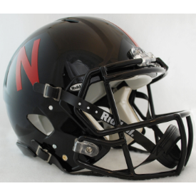 Nebraska Cornhuskers Black Riddell Speed Authentic Full Size Football Helmet