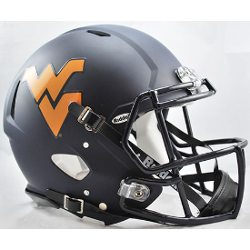 West Virginia Mountaineers Matte Navy Riddell Speed Authentic Full Size Football Helmet