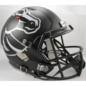 Boise State Broncos Matte Black Riddell Speed Replica Full Size Football Helmet