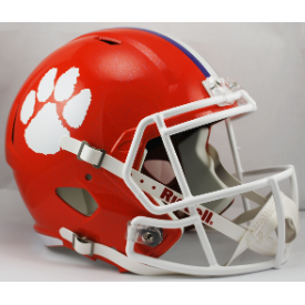 Clemson Tigers Riddell Speed Replica Full Size Football Helmet