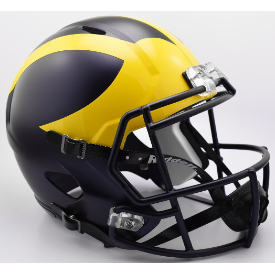 Michigan Wolverines Painted Matte Riddell Speed Replica Full Size Football Helmet