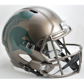 Michigan State Spartans Bronze Riddell Speed Replica Full Size Football Helmet