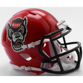 North Carolina State Wolfpack 2018 Red Tuffy Riddell Speed Replica Full Size Football Helmet