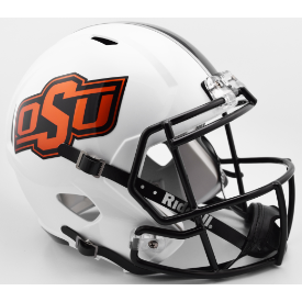 Oklahoma State Cowboys Matte White Riddell Speed Replica Full Size Football Helmet