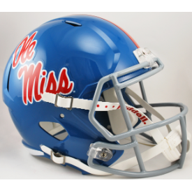 Mississippi (Ole Miss) Rebels Powder Blue Riddell Speed Replica Full Size Football Helmet