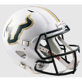 South Florida Bulls White Riddell Speed Replica Full Size Football Helmet