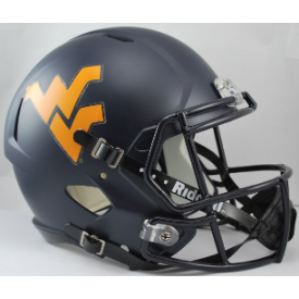 West Virginia Mountaineers Matte Navy Riddell Speed Replica Full Size Football Helmet