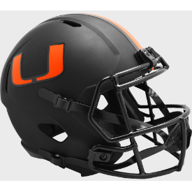 Miami Hurricanes Riddell Speed ECLIPSE Replica Full Size Football Helmet