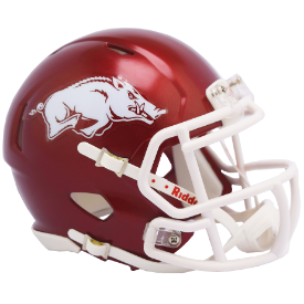 Arkansas Razorbacks 2018 Gloss Riddell Speed Mini Football Helmet