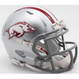 Arkansas Razorbacks Dallas Tribute Riddell Speed Mini Football Helmet