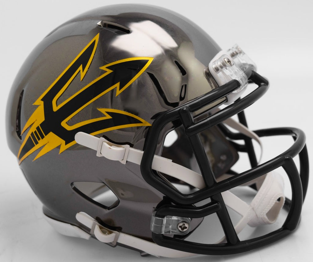 Arizona State Sun Devils CHROME Riddell Speed Mini Football Helmet