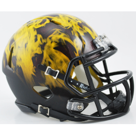 Arizona State Sun Devils Flame Riddell Speed Mini Football Helmet ***DISCONTINUED***