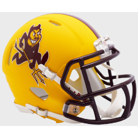 Arizona State Sun Devils Matte Yellow Sparky Riddell Speed Mini Football Helmet
