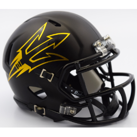 Arizona State Sun Devils Satin Black Riddell Speed Mini Football Helmet