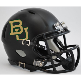 Baylor Bears Matte Black Riddell Speed Mini Football Helmet