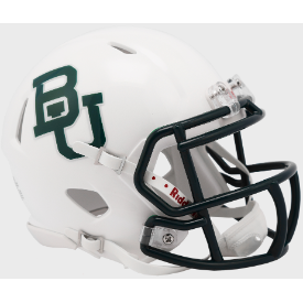 Baylor Bears White Metallic Riddell Speed Mini Football Helmet