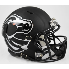 Boise State Broncos Matte Black Riddell Speed Mini Football Helmet