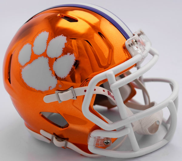 Clemson Tigers CHROME Riddell Speed Mini Football Helmet