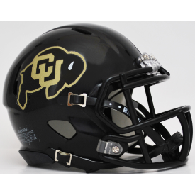 Colorado Buffaloes Black Riddell Speed Mini Football Helmet