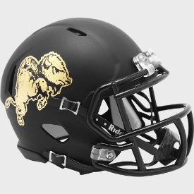 Colorado Buffaloes Chrome Buffalo Riddell Speed Mini Football Helmet