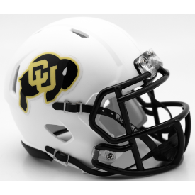 Colorado Buffaloes Matte White Riddell Speed Mini Football Helmet
