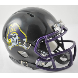 East Carolina Pirates Black Riddell Speed Mini Football Helmet