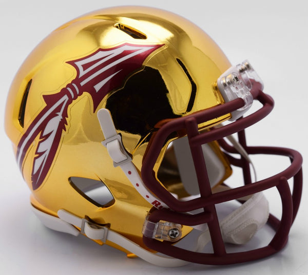 Florida State Seminoles CHROME Riddell Speed Mini Football Helmet